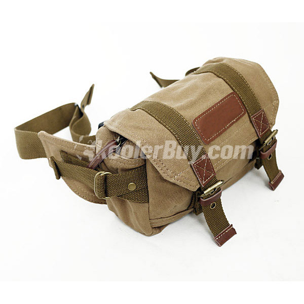 Koolertron Canvas Vintage Waist Packs DSLR Camera Bag For Sony Canon Nikon Olympus Yellow