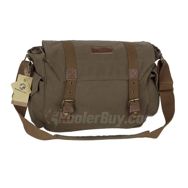 Koolertron F1005 Green Canvas DSLR Camera Shoulder Bag For Sony Canon Nikon Olympus