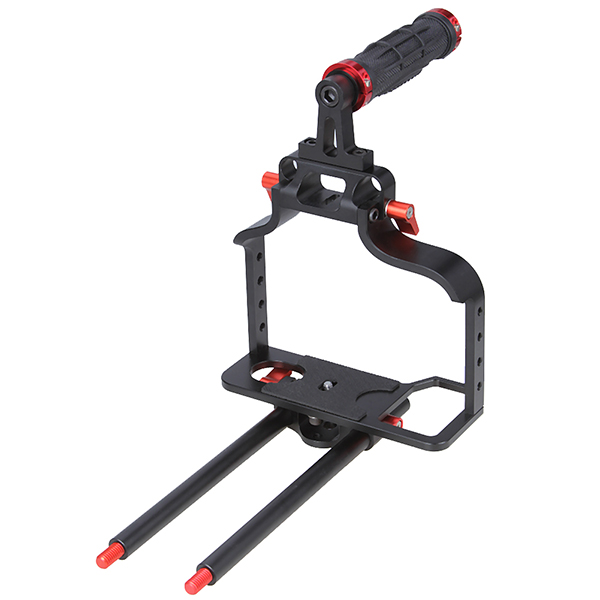 Koolertron DSLR Camera Cage + Top Handle for Canon Nikon Olympus