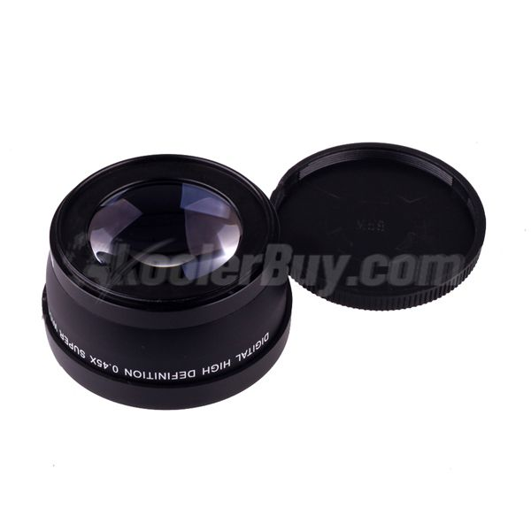 Koolertron New 58mm 0.45x Marco Wide Angle Lens for Canon Nikon Olympus Sony