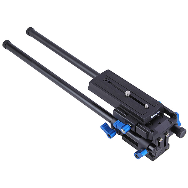 Koolertron Adjustable Plateform Baseplate Support Mount Rig Rail System With 4 Rods For DSLR Camera Follow Focus Matte Box