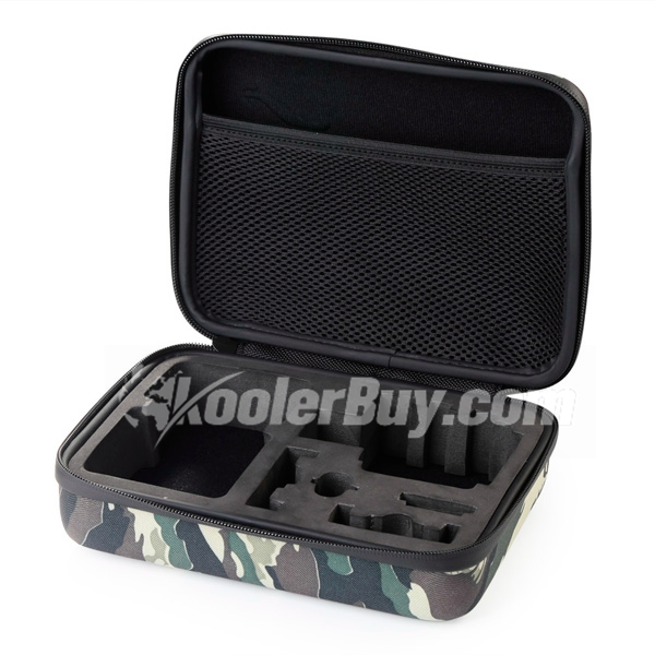 Koolertron Portable Waterproof Resistant Protective Gopro Case Storage Carrying Bag For Hero 4, 3+, 3, 2, 1 Camera Xiaoyi and Accessories with Shockproof Highest Quallity EVA Medium Camo