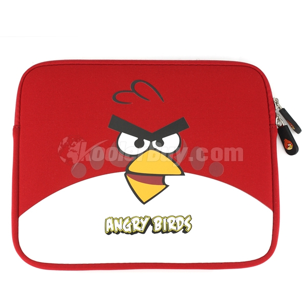 Koolertron Angry Birds Red Sleeve Soft Case Bag Cover for iPad 2