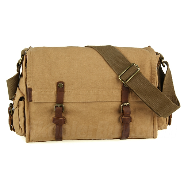 "Koolertron High Density Cotton Canvas Messenger Shoulder Bag Fits 14"" Laptop"