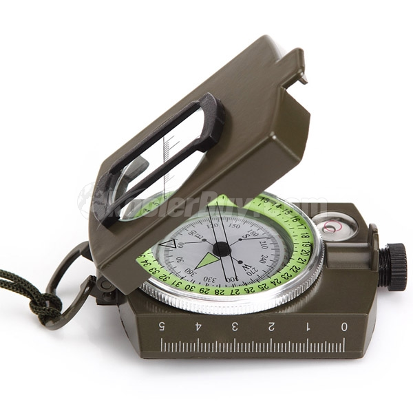 Pellor Military Prismatic Compass Lensatic with Pouch