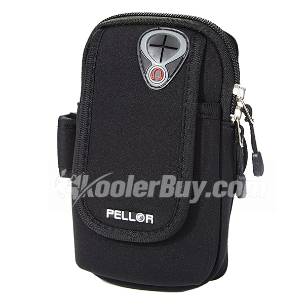 Pellor Gym Arm Band Armband Bag Running Wristlet Bag Pouch for iphone 6, 5s, Samsung Galaxy Note 4, 3(17.5*10*3.5 cm)