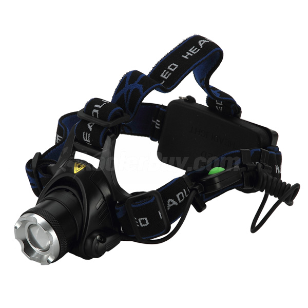 Pellor NEW 1200LM CREE XM-L XML T6 LED adjustable zoom Headlamp Rechargeable Headlight with 2x18650 Battery and Charger