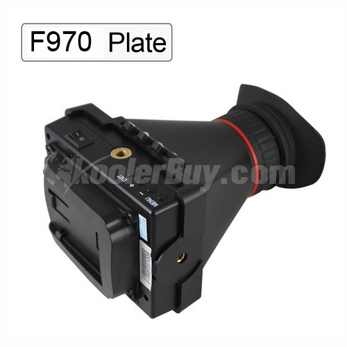 "Rupse EVF 3.5"" LCD Screen Electronic View Finder For Camera Video HDMI and Sony F970 Plate"