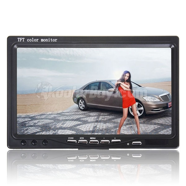 "Rupse New 7"" TFT LCD Colour Monitor with AV Input Remote Control for DVD GPS Camera"