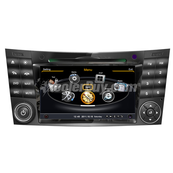 Koolertron Car DVD GPS Navigation With dual-core/3Zone POP 3G/WIFI/20 Disc CDC / DVD Recording / Phonebook / Game For W211 Benz E-Class