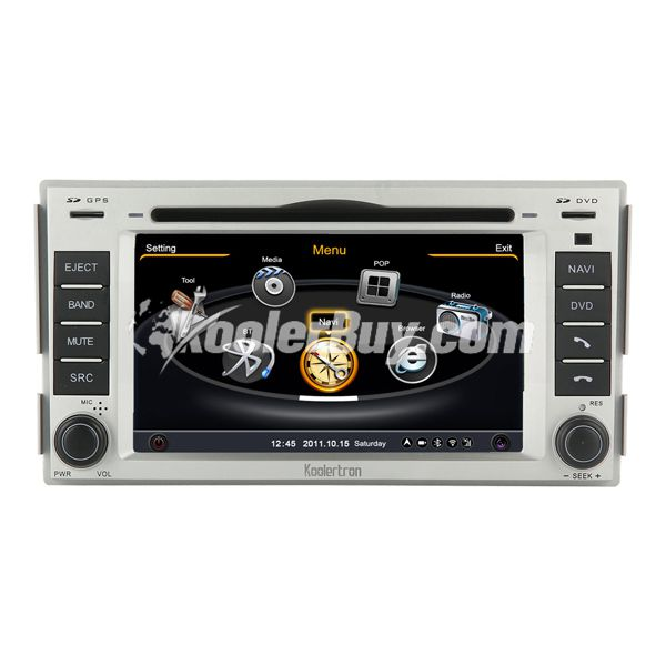 Koolertron New Hyundai Santa Fe Navigation System With 3 Zone/POP/3G/WIFI/DVD Recording/Phonebook/Game