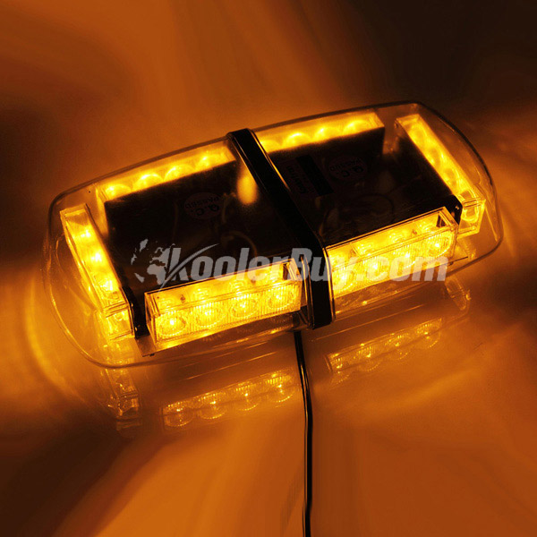 Koolertron LED Strobe Amber Emergency Warning Mini Strobe Light Bar Magnetic Base