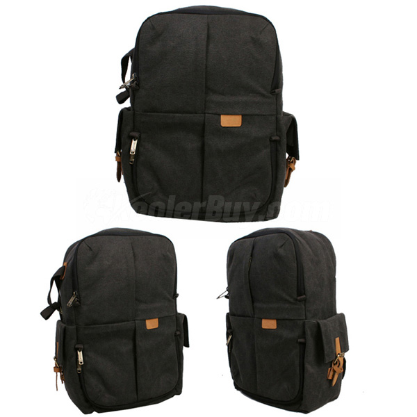 Best Waterproof Camera Backpack - Koolertron Black Canvas Laptop ...