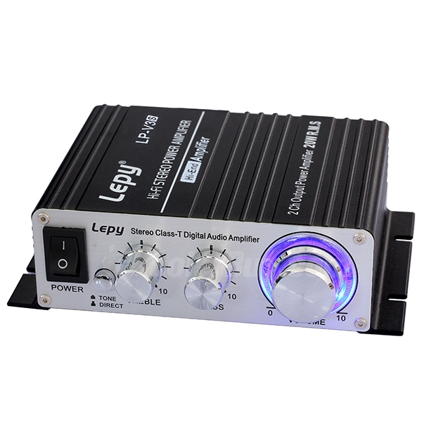Koolertron Lepy LP-V3S Motorcycle Hi-fi Stereo Digital Audio Amplifier with Power Supply