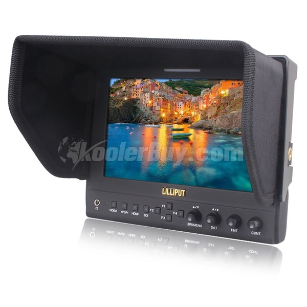 "Lilliput 663/O New 7"" HD LED Monitor With HDMI In Out Suit Case+Folding Sun Shade for DV DSLR Video Camera"