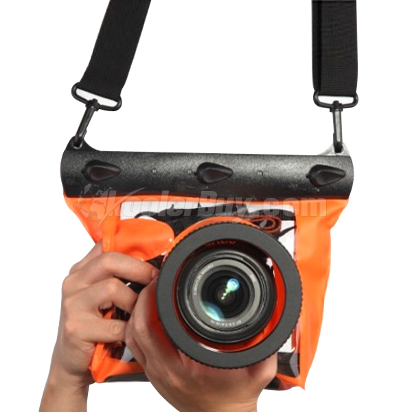 Koolertron Orange Large 20M Underwater Use Waterproof Camera Bag DSLR Case For Canon Nikon