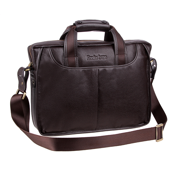 Koolertron Men's Genuine Leather Handbag Messenger Shoulder Briefcase Laptop BAG Purse 14""