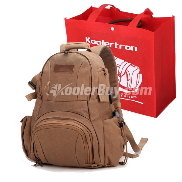 Koolertron NEW Waterproof Canvas DSLR Backpack Bag For Canon EOS/Nikon Olympus/Sony/Samsung/BBK-S1