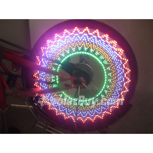 Pellor Cycling Safety LED Wheel Light Suit for Wheels 16 Led Flash Light with 32 Kinds of Change
