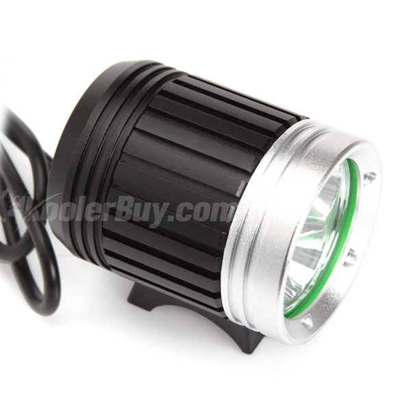 Pellor LED Bicycle Headlight 3x CREE XML T6 4 Modes 3600 Lumens with Battery and Charger