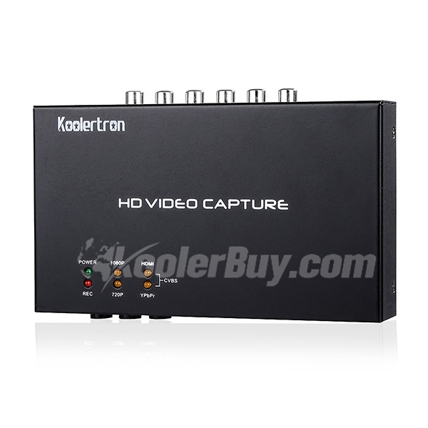 Koolertron HD Video Capture Game Capture 1080P Recording with One Click for set Tv Box Xbox PS3 No PC Required