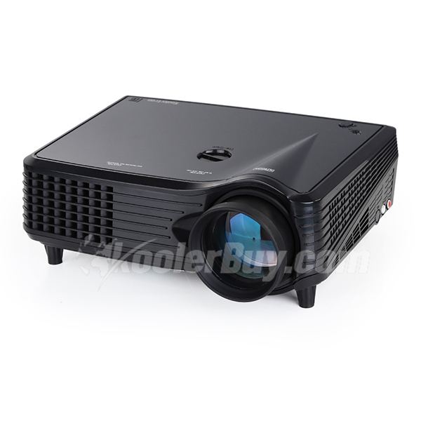 Koolertron 1600 Lumens LED Projector Cinema Theater With (Native VGA)800 x 480 Pixels Resolution,2500:1 Contrast Ratio Support HDMI/ USB/ VGA/AV/YPbPr/ Video Input