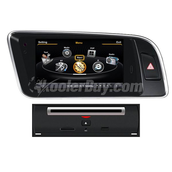 Koolertron Car DVD GPS Navigation for 2008-2015 AUDI Q5 with Dual-core/3Zone POP 3G/WIFI/20 Disc CDC/DVD Recording/Phonebook/Game