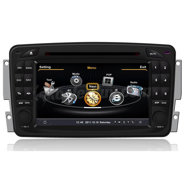 Koolertron Car DVD GPS Navigation With dual-core/3Zone POP 3G/WIFI/20 Disc CDC/DVD Recording/Phonebook/Game For Mercedes Benz W203