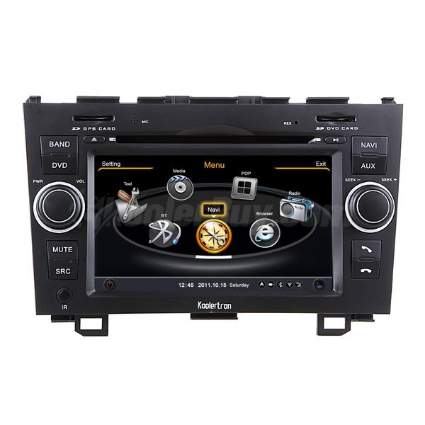 Koolertron Car DVD GPS Navigation With dual-core/3Zone POP 3G/WIFI/20 Disc CDC/ DVD Recording/ Phonebook / Game For 2007-2011 Honda CR-V