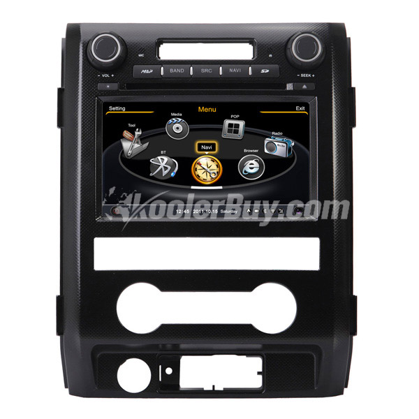Koolertron Car DVD GPS Navigation With dual-core/3Zone POP 3G/WIFI/20 Disc CDC/ DVD Recording/ Phonebook / Game For Ford F150