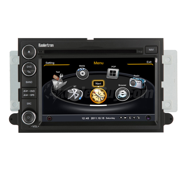 Koolertron Car DVD GPS Navigation With dual-core/3Zone POP 3G/WIFI/20 Disc CDC/ DVD Recording/ Phonebook / Game For Ford Fusion F150 EDGE