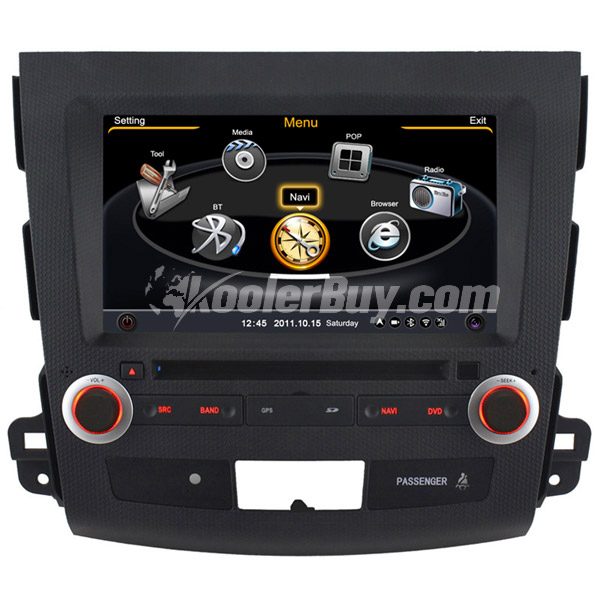 Koolertron Car DVD GPS Navigation With dual-core/3Zone POP 3G/WIFI/20 Disc CDC/ DVD Recording/ Phonebook / Game For MITSUBISHI OUTLANDER