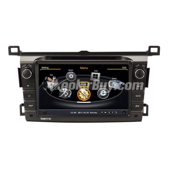 Koolertron Car DVD GPS Navigation With dual-core/3Zone POP 3G/WIFI/20 Disc CDC/ DVD Recording/ Phonebook / Game For 2013 TOYOTA RAV4