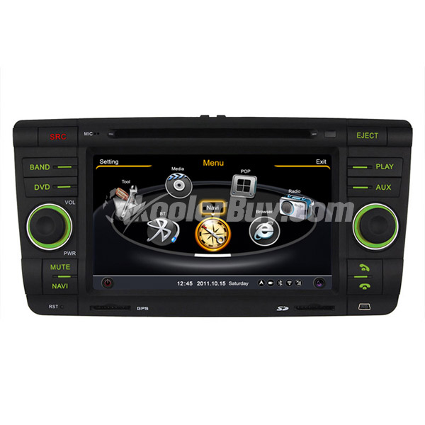 Koolertron Car DVD GPS Navigation With dual-core/3Zone POP 3G/WIFI/20 Disc CDC/ DVD Recording/ Phonebook / Game For Skoda Octavia & Fabia