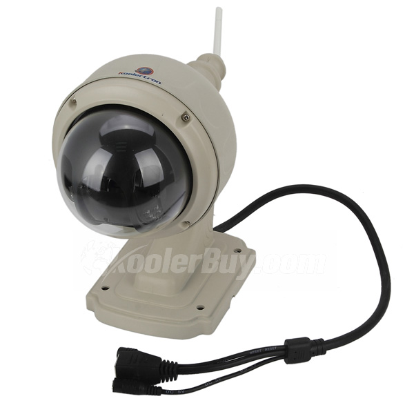Koolertron Plug&Play Wireless 720P Megapixels Outdoor Dome Network Camera H.264 P2P For IR Night Vision PTZ 3X Zoom Speed Monitor IP Camera