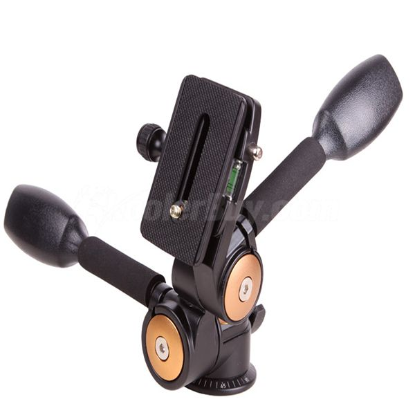 New 360°Two handle Hydraulic Damping Three-dimensional Head For Tripod Monopod