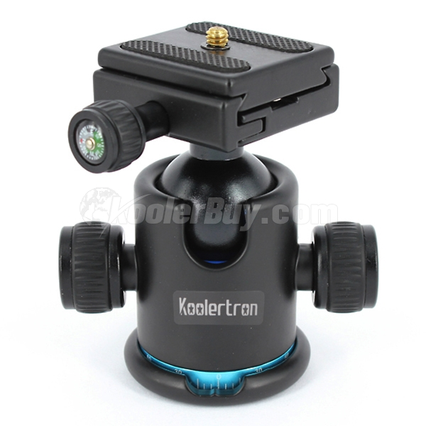 Koolertron Universal Tripod Ball Head Ballhead + Quick Release Plate For DSLR Or Video Camera