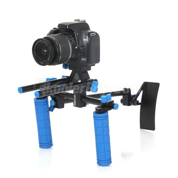 Koolertron DSLR Shoulder PAD Support Mount+2 Hand Grips With 15mm Rail Rods For Canon Sony Nikon