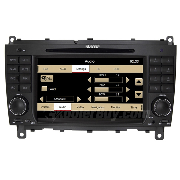 Rupse Mercedes Benz CLK W209 Car DVD Player With 7 inch 800