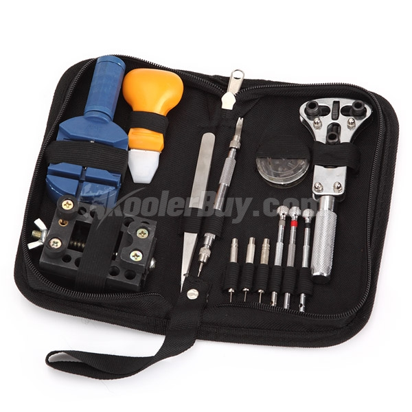 Pellor 13pcs Watch Repair Tool Kit Zip Case Battery Opener Link Remover Screwdrivers