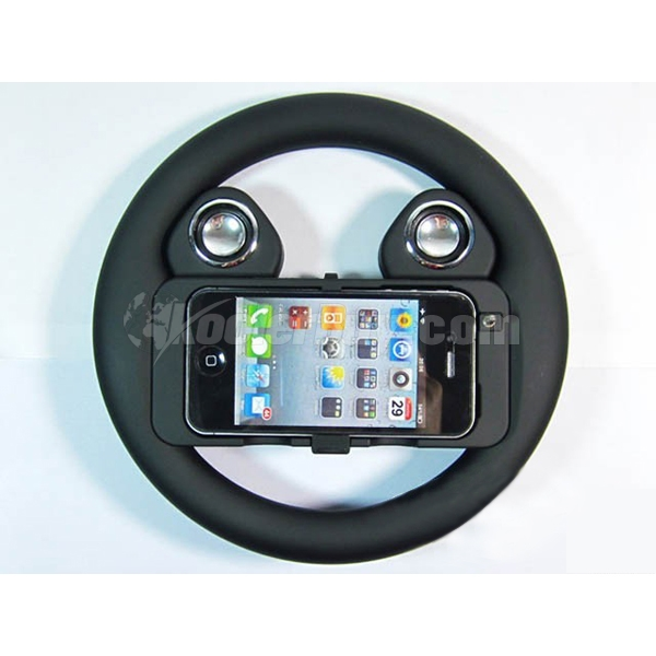 Koolertron HOT SALE Game Steering Wheel with Speaker for iPhone 4 4s