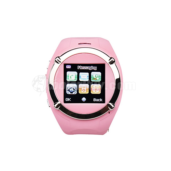Koolertron Pink Sports Style 1.5 Inch Waterproof Wrist Watch Cellphone Phone With 4GB TF Card