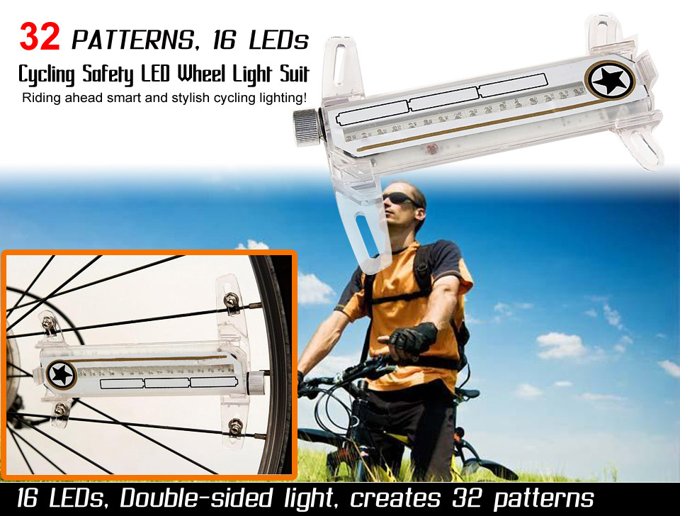 led cycling wheel light
