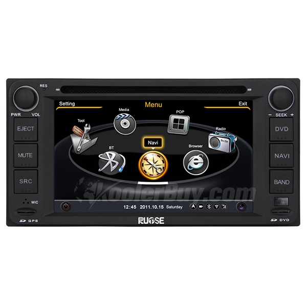 Rupse Car DVD GPS Navigation With 3 Zone POP 3G/WIFI/20 Disc CDC / DVD Recording / Phonebook / Game For TOYATA Series